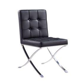 Esstisch Stuhl Barcelona - modernes Design in Schwarz - auch für Bar & Lounge