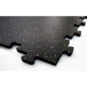 Fitness-Fliese Puzzlesystem - Schwarz-Blau-Gelb - 50x50 cm - 8mm