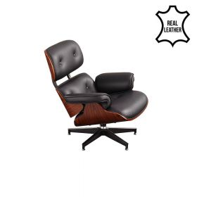 eames lounge chair + lounge hocker / ottoman