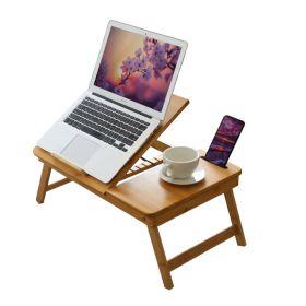 Laptop-Tisch - Bambus - Verstellbar - Klappbar - Ergonomisch arbeiten auf Bett & Couch