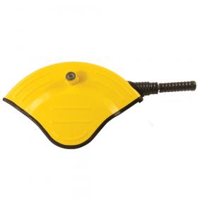 Lenkradkralle - V-lock - Signalgelber Diebstahlschutz für großes Lenkrad bis 43cm