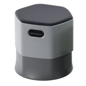 Moderner Bürohocker Grau - Rocada Ergoline- freischwingend& höhenverstellbar