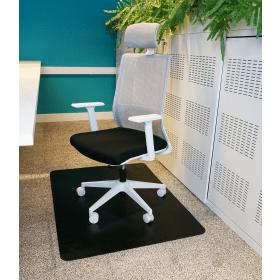 """PVC-Bürostuhlunterlage """"Teppich"""" - Schwarz -  90 x 120 cm - Bodenschutzmatte für Teppiche"""