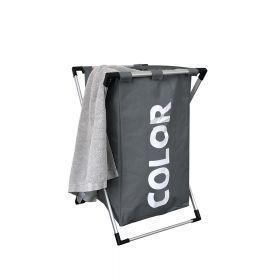 Klappbarer Wäschesortierer - Dunkelgrau - Wäschesack schnell herausnehmbar