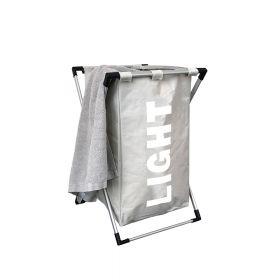 Klappbarer Wäschesortierer - Gebrochen-Weiß - Wäschesack schnell herausnehmbar