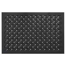 Gummi-Fußmatte Weaver - 61 x 91 cm - Rechteckige Türmatte - Wasserdurchlässig & rutschfest