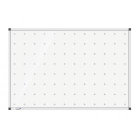 whiteboard met wiskundige kruisjes