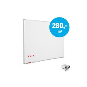 """Whiteboard """"Pro"""" - Matt - Emaille - auf Maß - für Projektion mit Beamer - Sonderhöhe (max. 150x240cm)"""