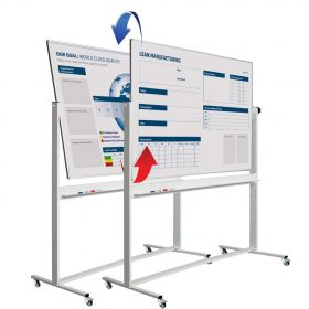 "Whiteboard ""Pro"" - mobil - Emaille - individuell bedruckt - 120x220cm"
