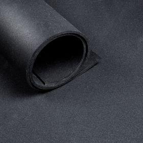 Sportboden - Laufender Meter von der Rolle - Breite 1,25 m - Dicke 10 mm - Schwarz