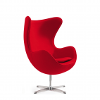 Das Ei – Egg Chair – Designklassiker mit einzigartiger Form - Rot