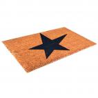 """Design-Kokosmatte """"STAR"""" - 40 x 60 cm - Mit PVC-Unterseite - Haltbar und hoher Schmutzabrieb"""