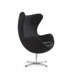 Das Ei – Egg Chair – Designklassiker mit einzigartiger Form - Schwarz