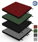 Fallschutz-Matte - Stecksystem - 50x50cm - 55mm - Systemboden für Spiel- und Sportplätze
